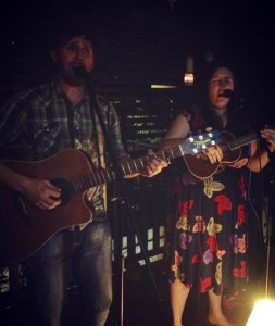 Dan and Hannah Acfield at house concert in Brisbane